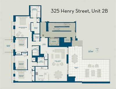 New York City Real Estate | View 325 Henry Street, #2B | Floorplan