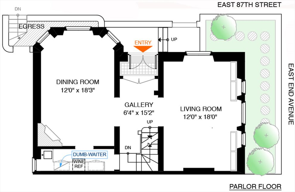 New York City Real Estate | View 558 East 87th Street | Floorplan 2