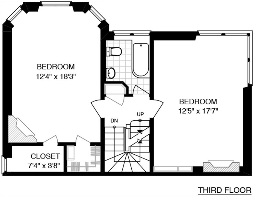 New York City Real Estate | View 558 East 87th Street | Floorplan 3