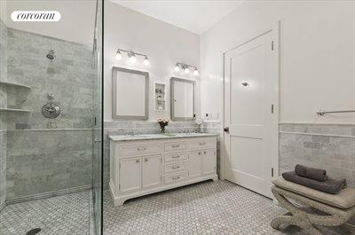 New York City Real Estate | View 481 Washington Street, 2-S | Gorgeous Marble Bath