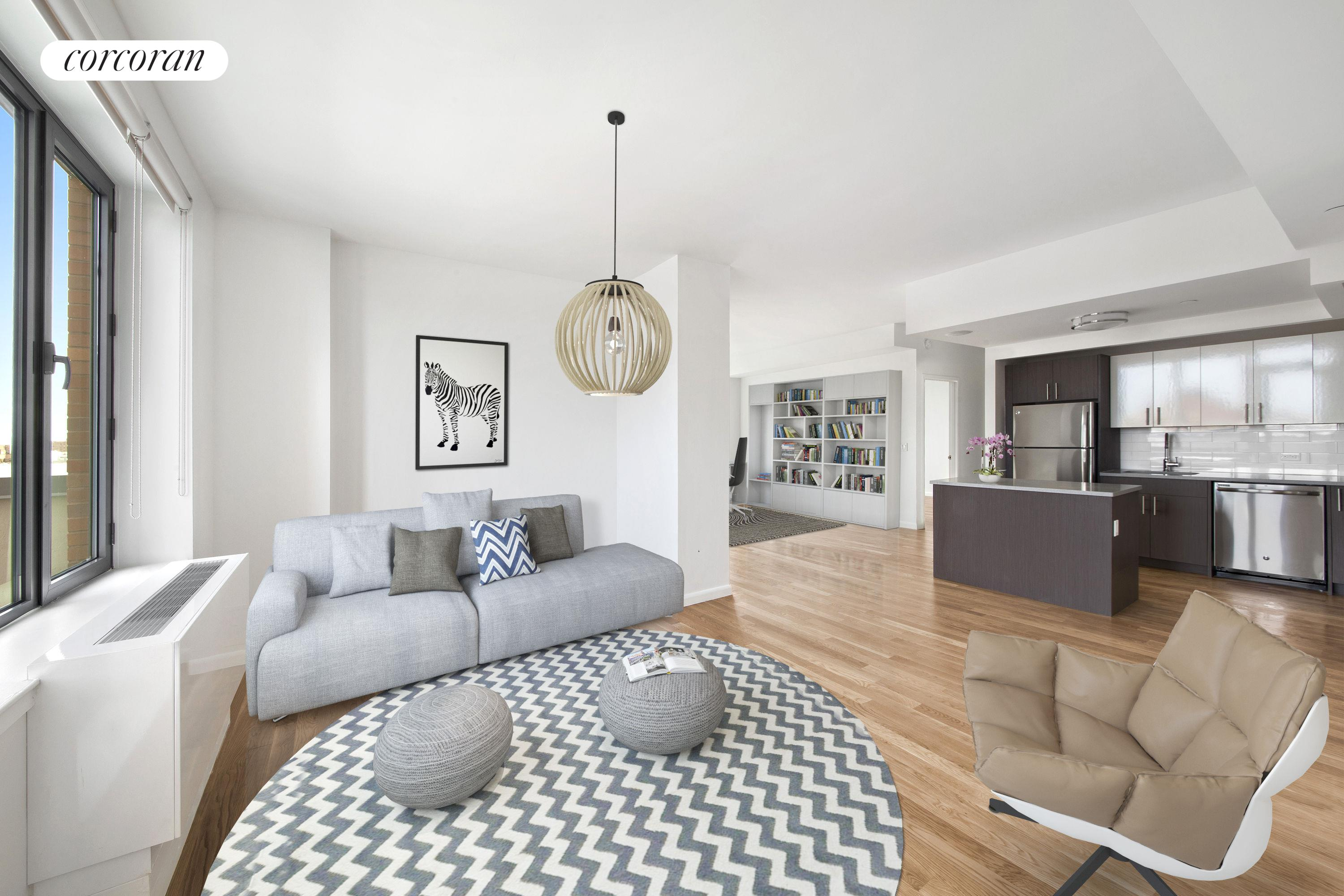 1770 Madison Avenue, 8D, Living Room