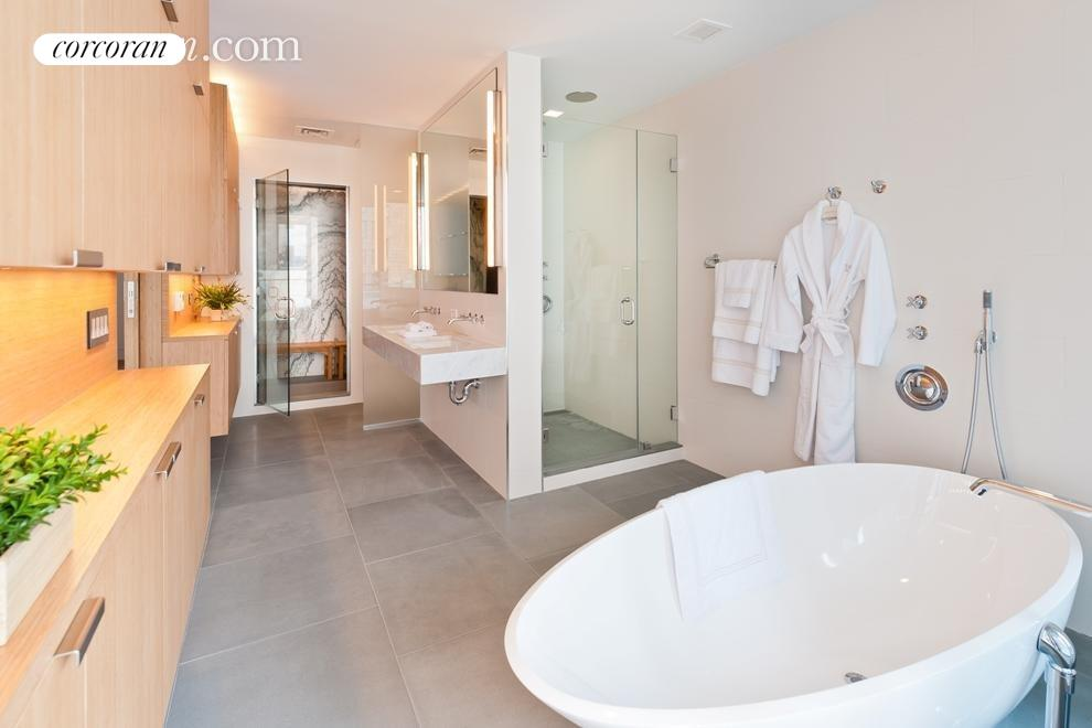 Spa Like Bath with Marble Steam Room