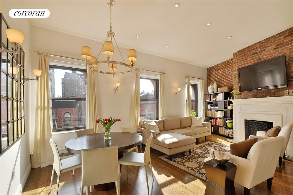 Corcoran 71 west 83rd street apt 5f upper west side for Living room 86th st