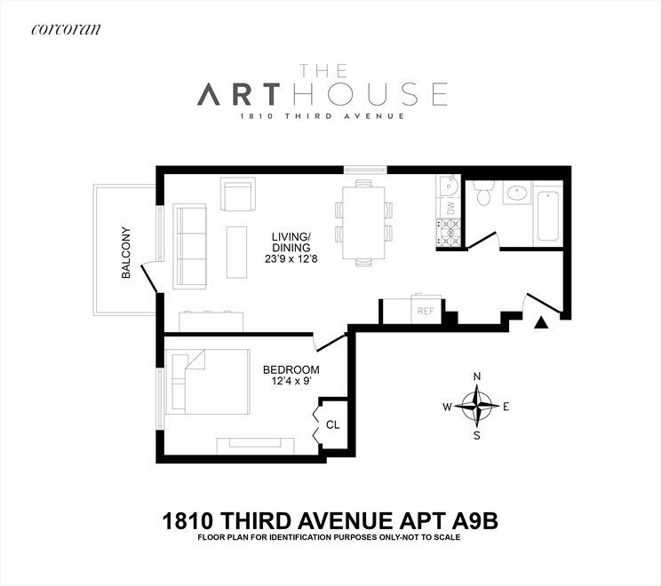 New York City Real Estate | View 1810 Third Avenue, #A-9B | Floorplan