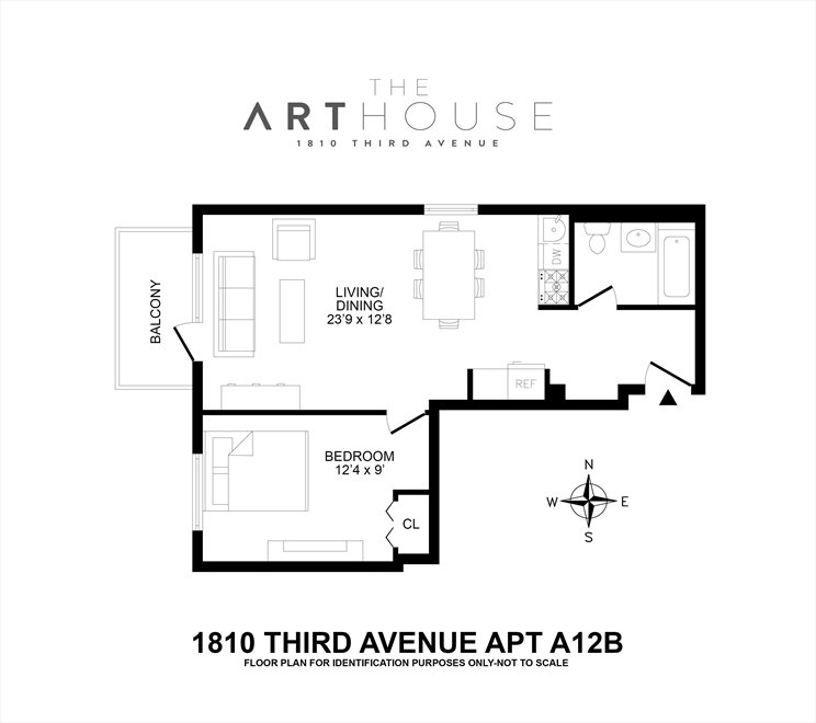 New York City Real Estate | View 1810 Third Avenue, #A-12B | Floorplan