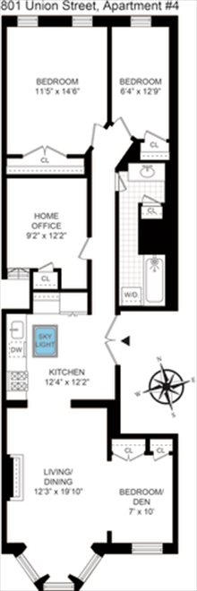 New York City Real Estate | View Union Street #4 | Floorplan 1