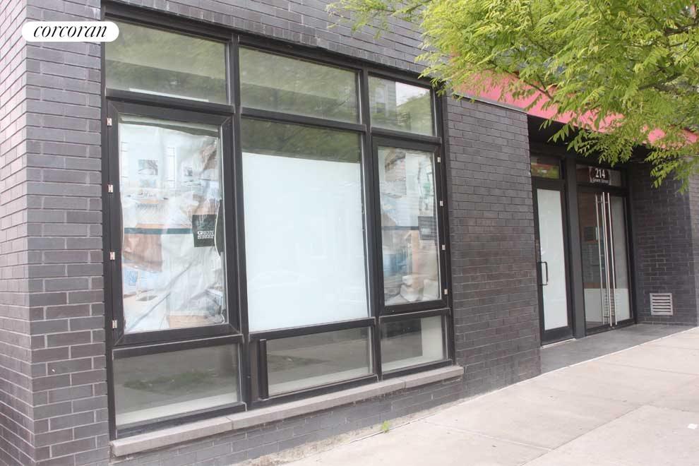 Storefront Window and Separate Door