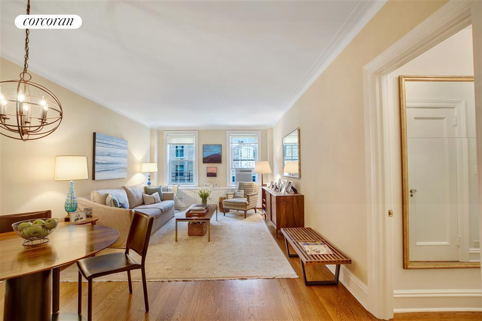 Corcoran 325 west 86th street apt 7b upper west side for Living room 86th street