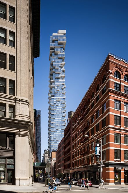 56 Leonard is a cascading 60-story icon