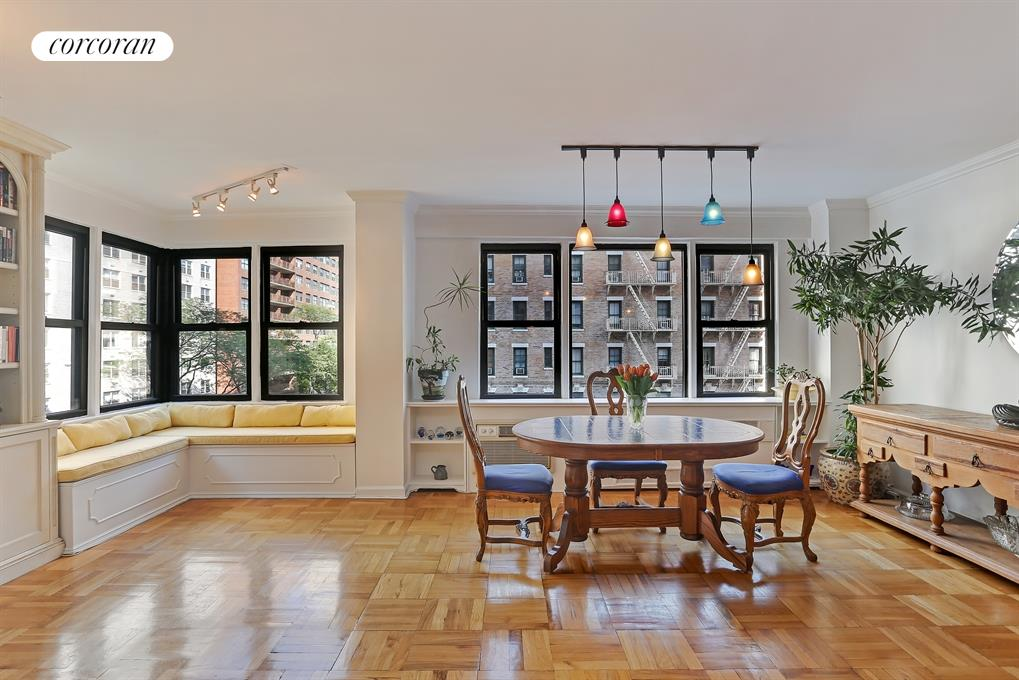 460 East 79th Street, 4A, Living Room & Dining Alcove with tons of light