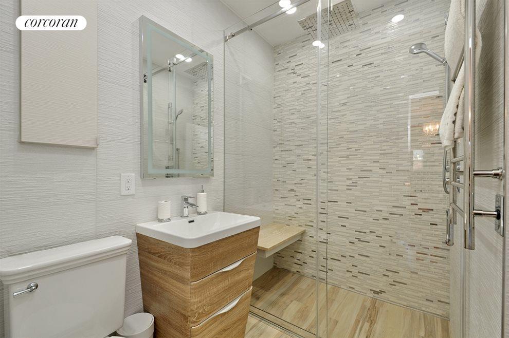 Newly renovated master spa-bathroom heated floors