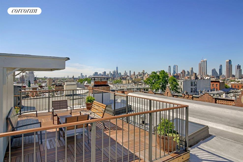 Roof Deck views of Manhattan Skyline