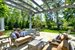 Amagansett, Pergola with lovely sitting area