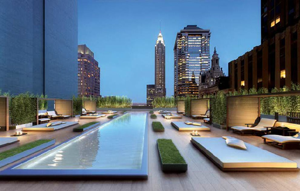 Terrace With Reflecting Pool