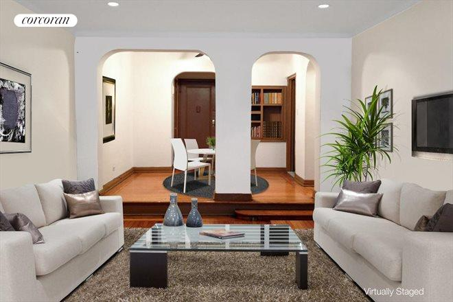 357 West 55th Street, 1M, Sunken Living Room, Dining Gallery