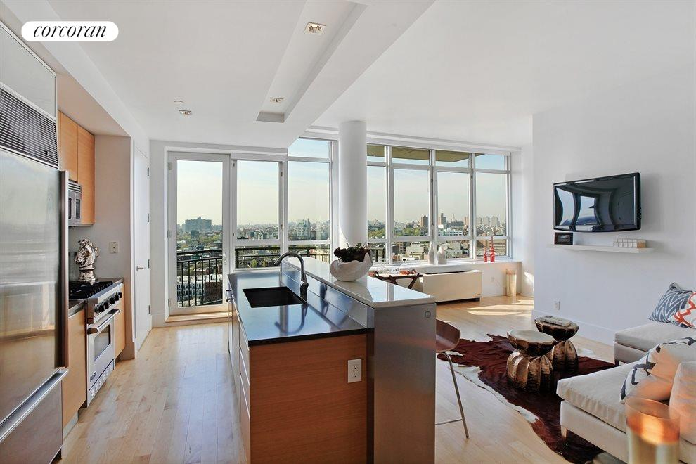 New York City Real Estate | View 20 Bayard Street, #14C | Kitchen / Living Room