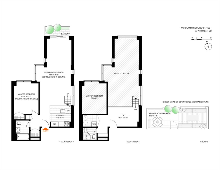 New York City Real Estate | View 113 South 2nd Street, #3B | Floorplan