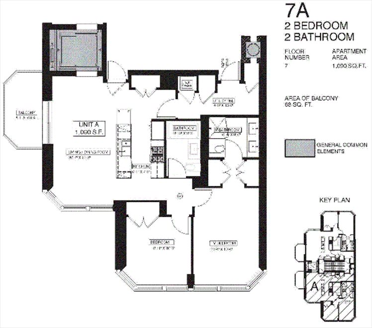 New York City Real Estate | View 100 Luquer Street, #7A | Floorplan