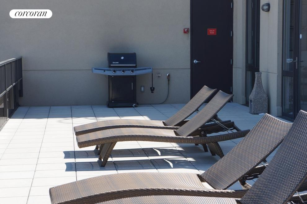 Common roof deck with grill