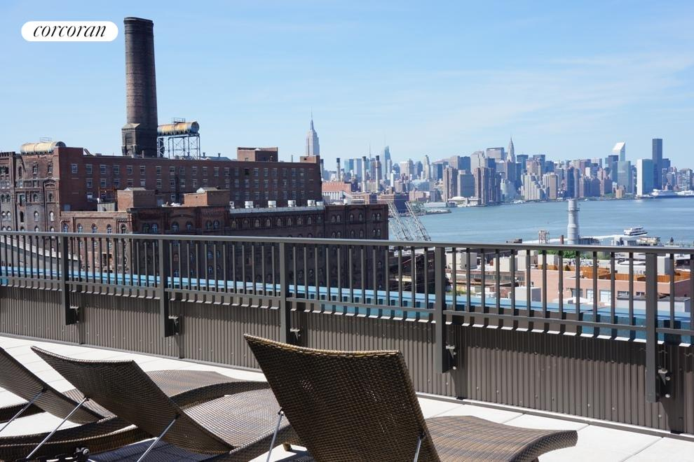 Common roof deck with Manhattan views