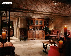 Fabulous wine cellar specially designed to resemble the atmosphere of a French chateau