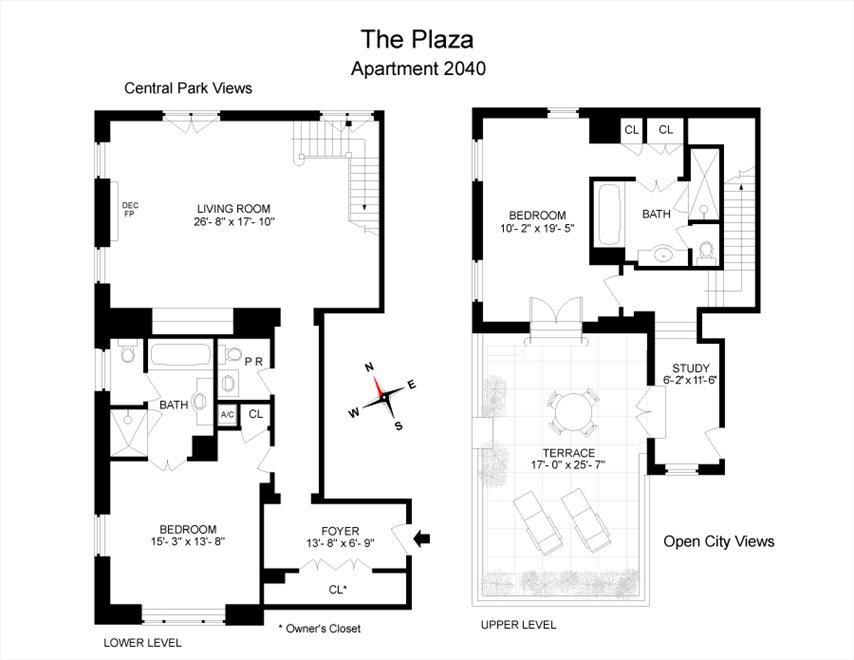 New York City Real Estate | View 768 Fifth Avenue, #PH2040 | Floorplan