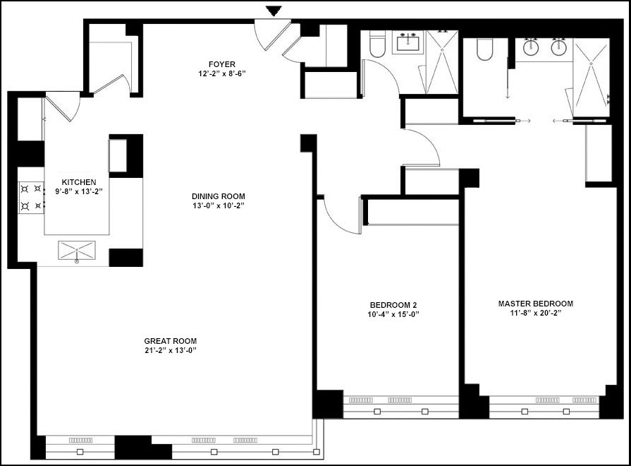 New York City Real Estate | View 40 East 78th Street, #9F | Floorplan