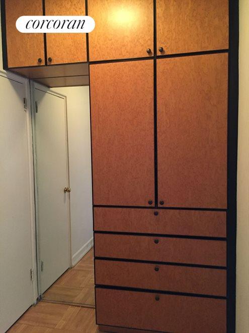 Built in Closet, fantastic storage outlet.