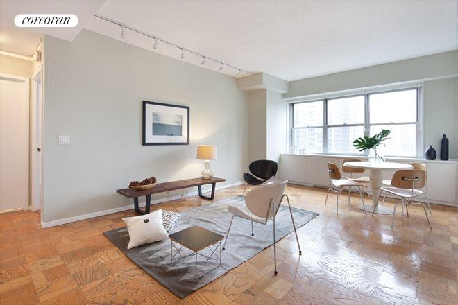 Corcoran 345 east 86th street apt 15d upper east side for Living room 86th st