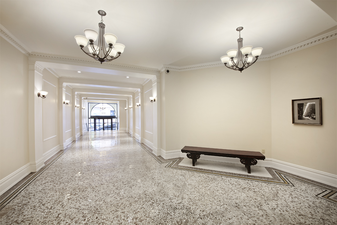 Beautifully Restored Lobby with mosaic floor