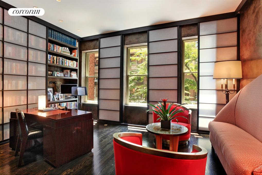 Office Overlooking Tree-Lined Street