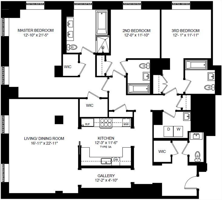 New York City Real Estate | View 160 West 12th Street, #78 | Floorplan