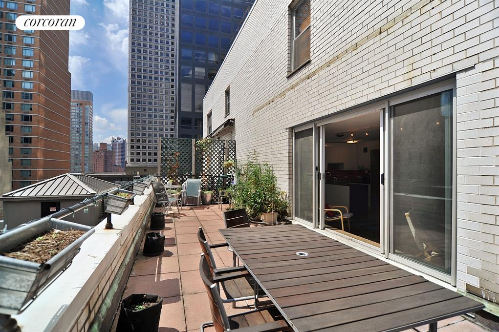 Huge Sunny 330 Foot Terrace