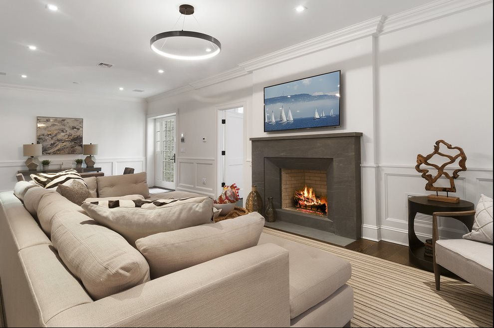 The Hamptons Real Estate | View 60 Herrick Road | Lower Level Entertaining Room