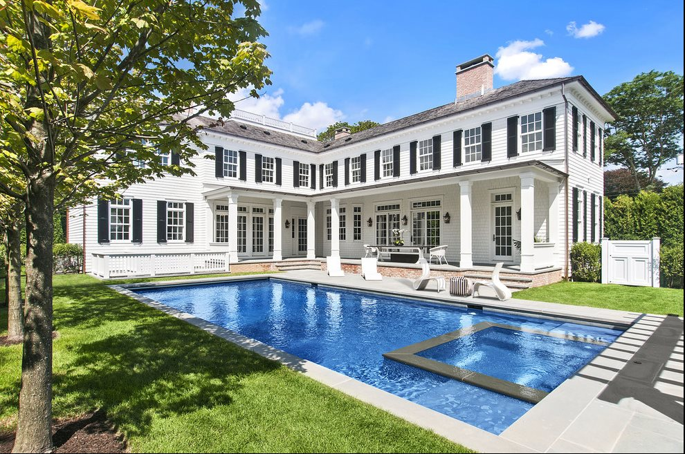 The Hamptons Real Estate | View 60 Herrick Road | Swimming Pool With Spa