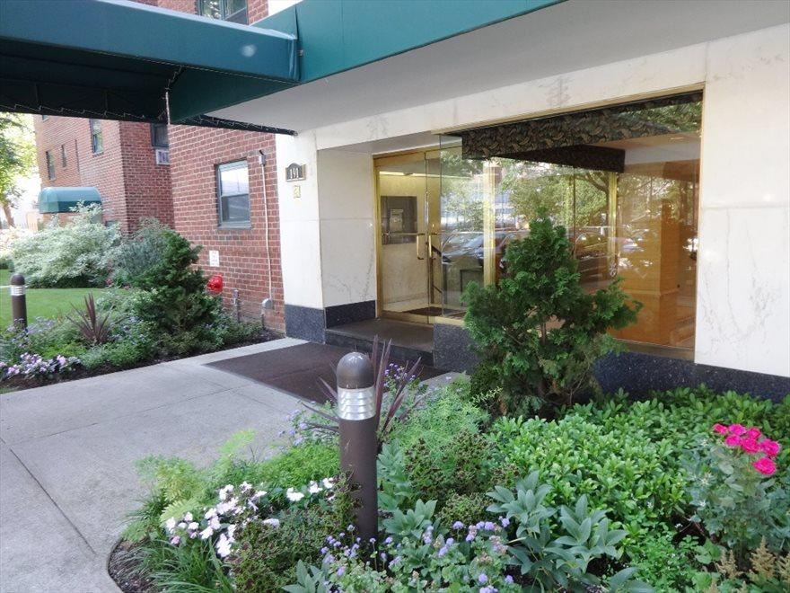 Building Entrance & Landscaped Gardens