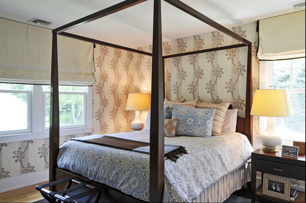 Guest bedroom furnished