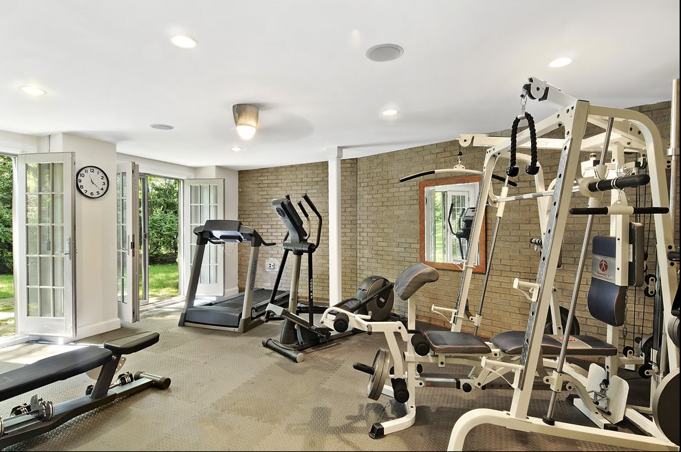 Gym on lower level
