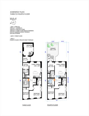 New York City Real Estate | View 44 Monroe Place | Floorplan 2