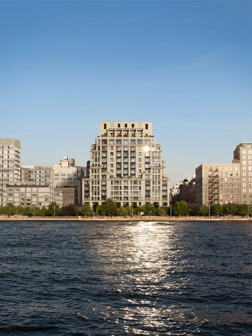 New York City Real Estate | View 70 VESTRY ST, #3F | 70 Vestry sits on the shore of the Hudson