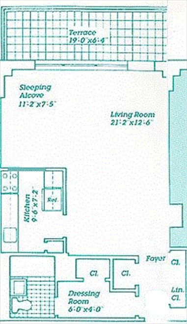 New York City Real Estate | View 170 West End Avenue, #17S | Floorplan