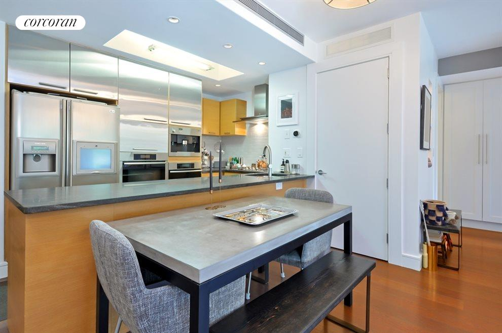 Open kitchen with granite counter