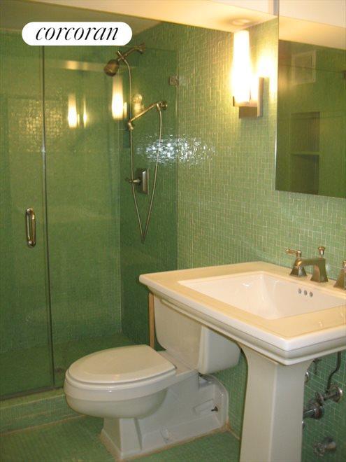 Upstairs bathroom near master bedroom