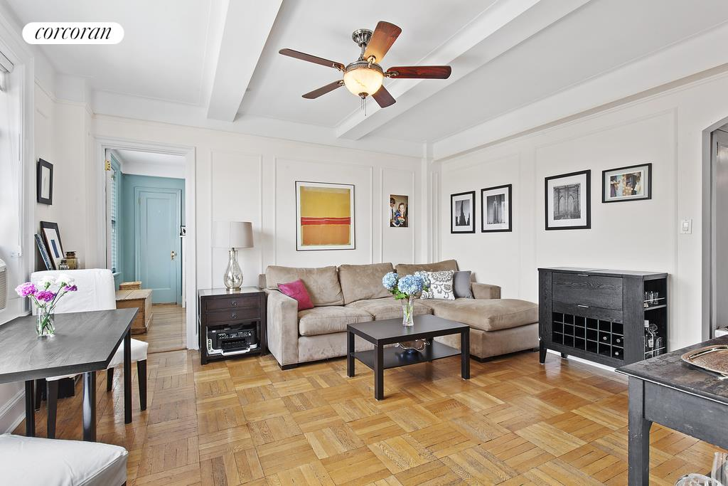 Corcoran 107 west 86th street apt 14g upper west side for Living room 86th street