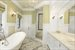 36 and 40A Island Creek Road, Master Bath With Clawfoot Soaking Tub and Shower
