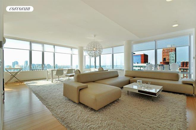 2 River Terrace, 26D, Huge Living Room with Four Exposures