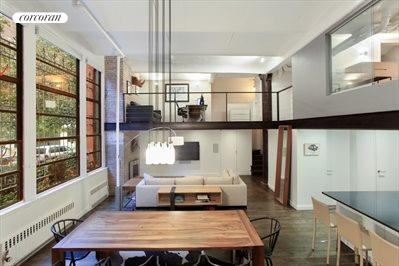 Dramatic duplex loft with towering ceilings