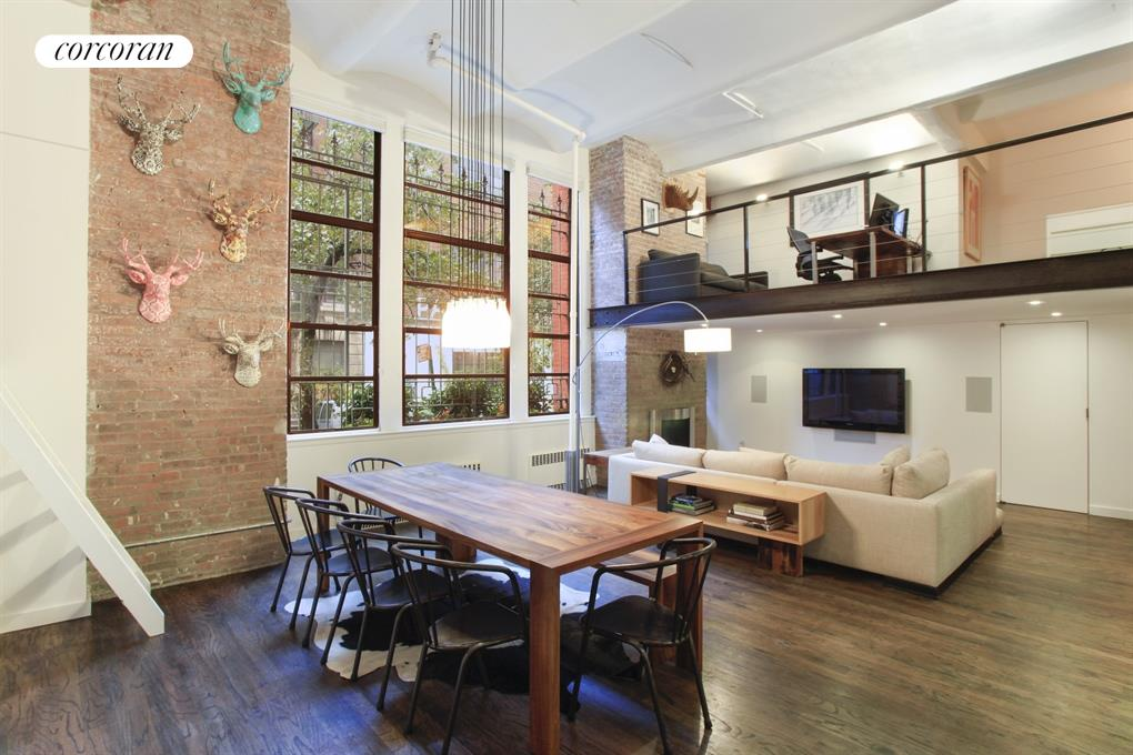 Beautiful exposed brick and barrel-vaulted ceiling