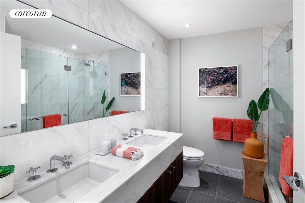 Master Bath With Radiant Heated Flooring