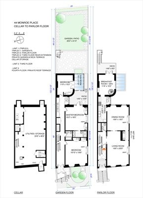 New York City Real Estate | View 44 Monroe Place | Floorplan 1